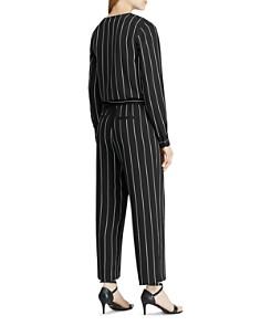 Ralph Lauren - Pinstriped Cropped Jumpsuit