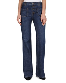 Gerard Darel - Nora Bell-Bottom Jeans in Blue