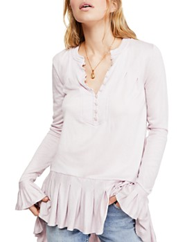 Free People - Your Girl Long-Sleeve Tunic Dress