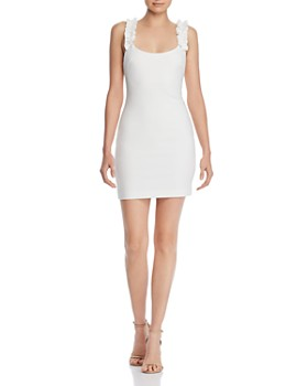 LIKELY - Elana Ruffled-Strap Mini Sheath Dress