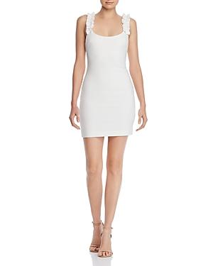 Likely Dresses ELANA RUFFLED-STRAP MINI SHEATH DRESS
