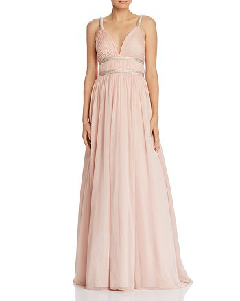 Aidan by Aidan Mattox - Beaded Chiffon Gown - 100% Exclusive