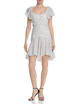 Bardot - Jessi Rouched Polka Dot Dress