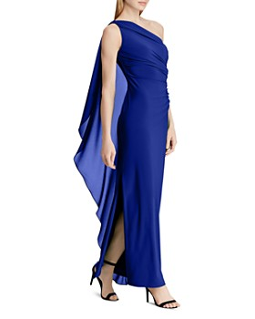 3ca300004b66 One Shoulder Ralph Lauren Evening Dress - Bloomingdale's