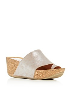Donald Pliner - Women's Ginie Platform Wedge Slide Sandals