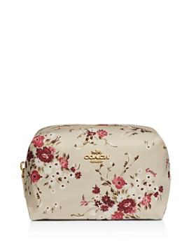 COACH - Small Boxy Floral Bundle Cosmetics Case