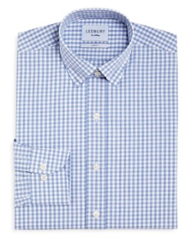 Ledbury - McAdam Gingham Slim Fit Dress Shirt