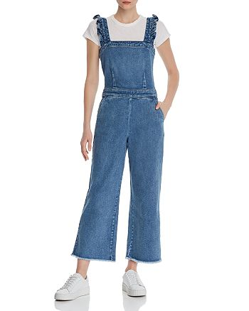 BLANKNYC - Crop Wide-Leg Denim Jumpsuit
