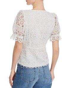 Lucy Paris - Jasmine Puff-Sleeve Lace Top