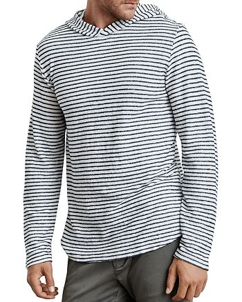 Velvet by Graham & Spencer - Traze Striped Hooded Terry Sweatshirt