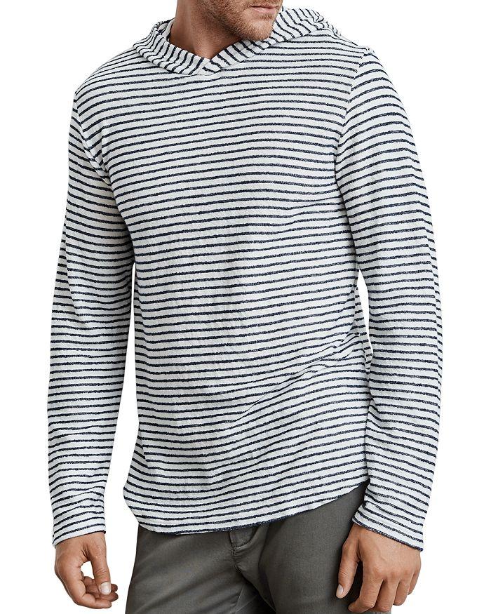 Velvet by Graham & Spencer - Traze Striped Hooded Terry Sweatshirt