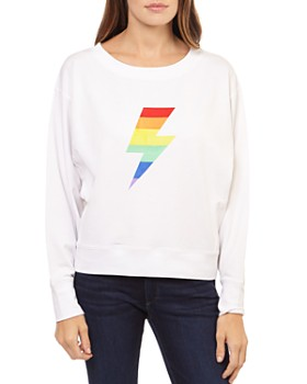 Theo & Spence - Rainbow Lightning Graphic Sweatshirt