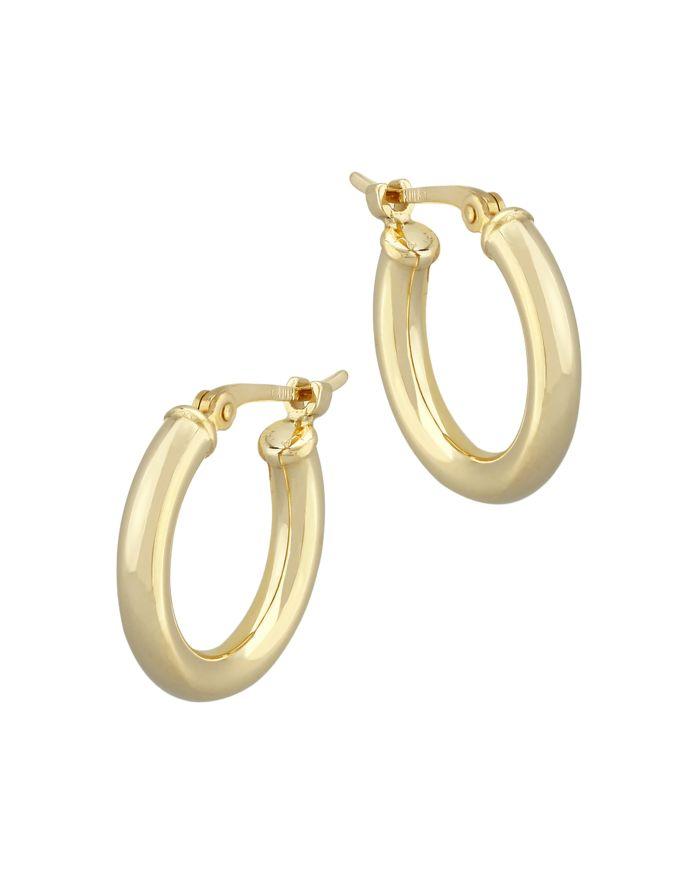 Bloomingdale's Small Tube Hoop Earrings in 14K Yellow Gold - 100% Exclusive  | Bloomingdale's