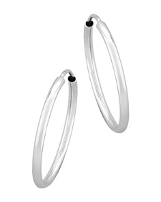 Bloomingdale's - Small Endless Hoop Earrings in 14K White Gold - 100% Exclusive
