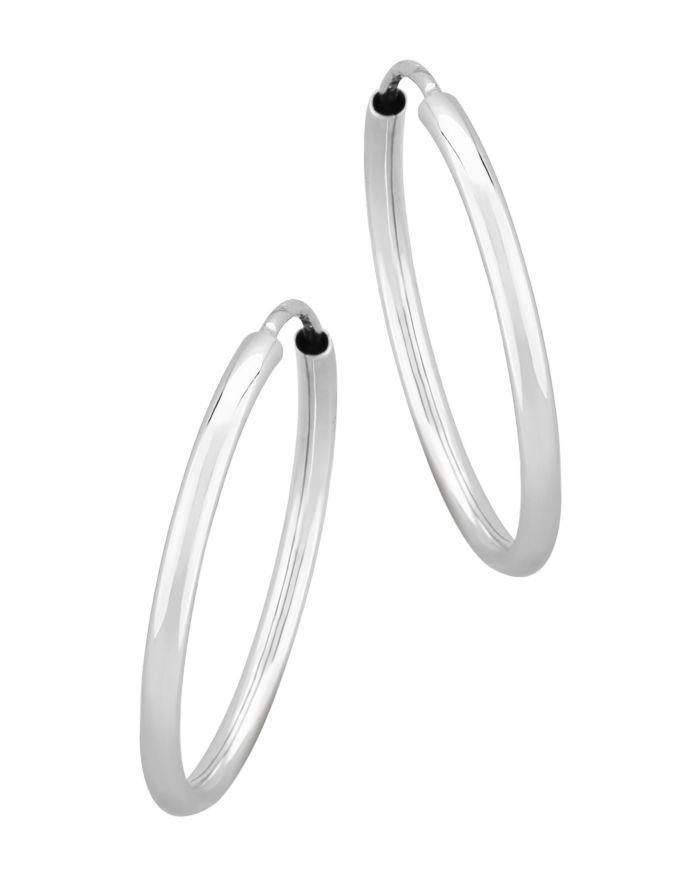 Bloomingdale's Small Endless Hoop Earrings in 14K White Gold - 100% Exclusive    Bloomingdale's