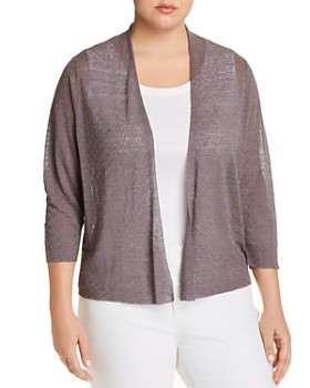 9a4a3283db9 Eileen Fisher Plus - Semi-Sheer Open Cardigan ...