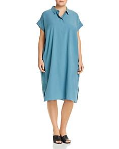 Eileen Fisher Plus - Short-Sleeve Shift Dress