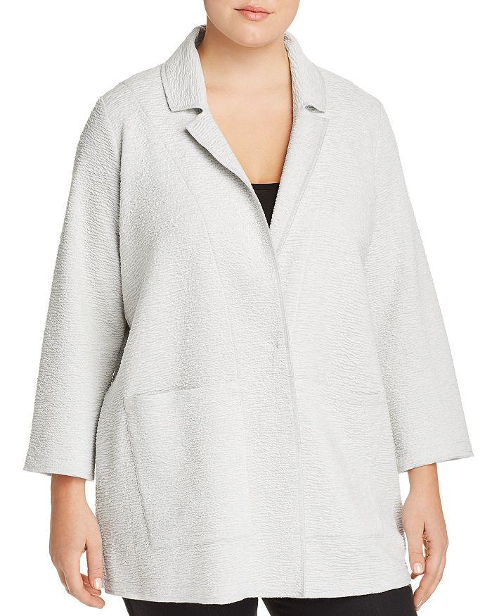 Eileen Fisher Plus - Textured Notch Collar Jacket