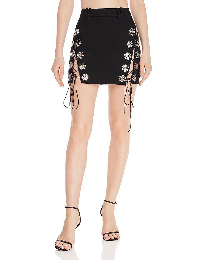 For Love & Lemons - Parker Lace-Up Mini Skirt