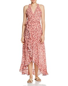 Poupette St. Barth - Tamara High/Low Wrap Dress