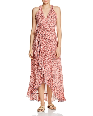 Poupette St Barth TAMARA HIGH/LOW WRAP DRESS