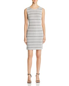 Calvin Klein - Geo-Stripe Jacquard Dress