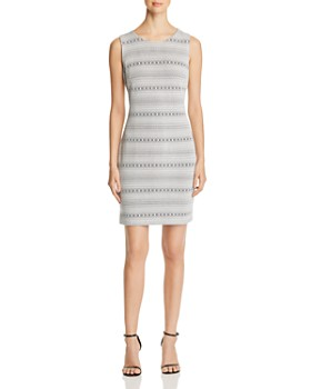 0a225176f46 Calvin Klein - Geo-Stripe Jacquard Dress ...