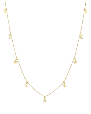 Argento Vivo Charm Dangle Necklace in 14K Gold-Plated Sterling Silver or Sterling Silver, 30