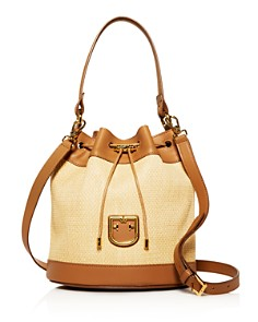 Furla - Corona Small Raffia Bucket Bag