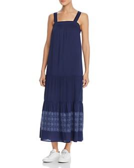 Design History - Sleeveless Embroidered Maxi Dress