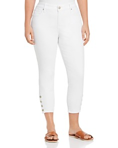 Seven7 Jeans Plus - Cropped Skinny Jeans in Blanc De Blanc