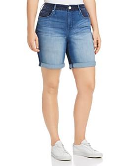 Seven7 Jeans Plus - Weekend Bermuda Denim Shorts in Gemini Wash