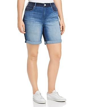 Seven7 Jeans Plus Weekend Bermuda Denim Shorts in Gemini Wash