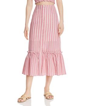 The Fifth Label - Kite Stripe Ruffled Midi Skirt