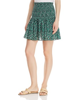 Rebecca Minkoff - Amari Floral Smocked Mini Skirt