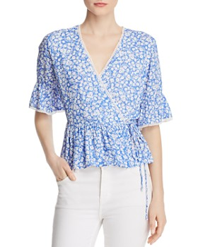 Lost and Wander - Pick Me Floral-Print Wrap Top