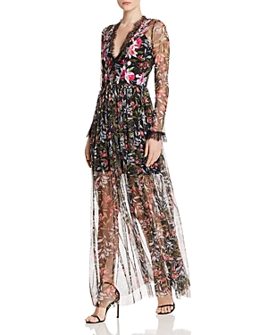 French Connection Dresses FLORI EMBROIDERED MAXI DRESS