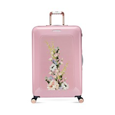 Ted Baker - Elegant Pink 4-Wheel Trolley Case, Large
