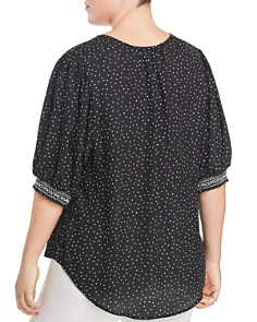 B Collection by Bobeau Curvy - Valerie Dot-Print Shirt