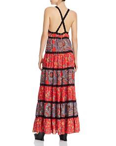 Alice and Olivia - Karolina Tiered Mixed Floral Maxi Dress