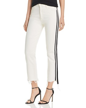 MOTHER - The Insider Track Stripe Cropped Flared Jeans in Whipping The Racer