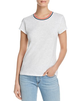 Goldie - Short-Sleeve Rainbow-Trim Tee