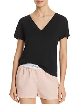 555e96217021a8 Calvin Klein - Flirty Lounge Short-Sleeve V-Neck Tee ...