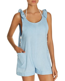 Dolce Vita - Chambray Romper Swim Cover-Up