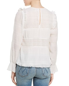 Velvet by Graham & Spencer - Ynez Ruffled Lace-Inset Top