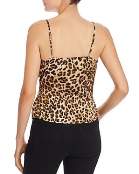 AQUA - Sleeveless Leopard-Print Wrap Top - 100% Exclusive