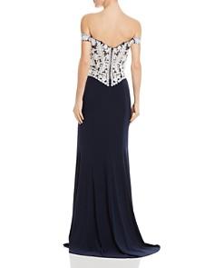 AQUA - Embellished Off-the-Shoulder Gown - 100% Exclusive