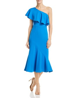AQUA - One-Shoulder Ruffled Dress - 100% Exclusive