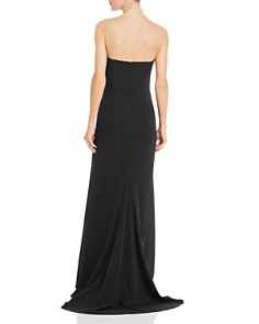 Adrianna Papell - Strapless Crepe Gown