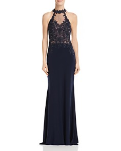 Avery G - Embellished Illusion Gown